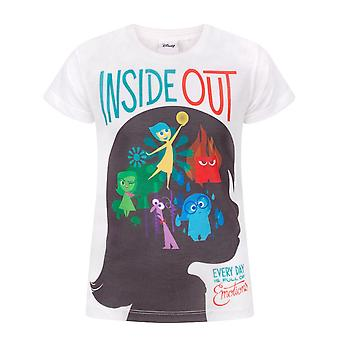 Inside Out Sublimation Girl's T-Shirt White