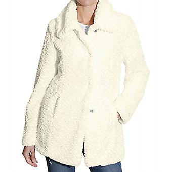 AMY VERMONT cuddly ladies jacket wool look white