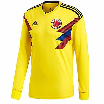 2018-2019 Colombia Home Adidas Long Sleeve Shirt