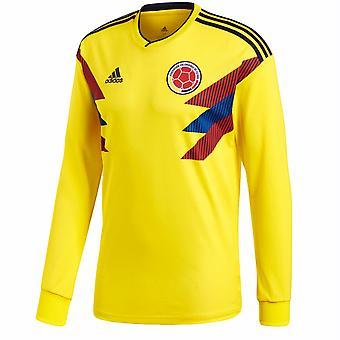 2018-2019 Kolumbien Home Adidas Langarm-Shirt