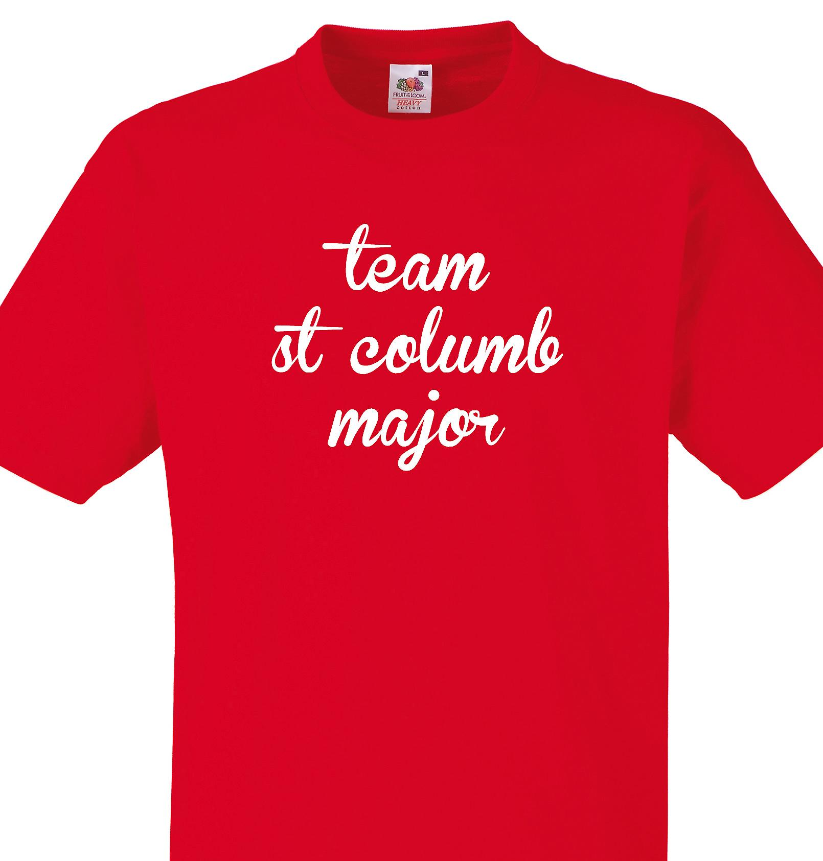 Team St columb major Red T shirt