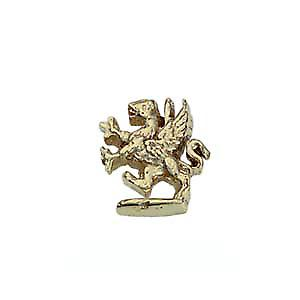 9ct Gold 11x8mm Griffin Rampant Tie Tack