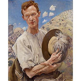 A sergeant of the Light Horse in,George W.Lambert,50x40cm