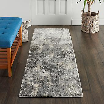 Fusion Nourison FSS16 Beige Grey  Runner Rugs Traditional Rugs