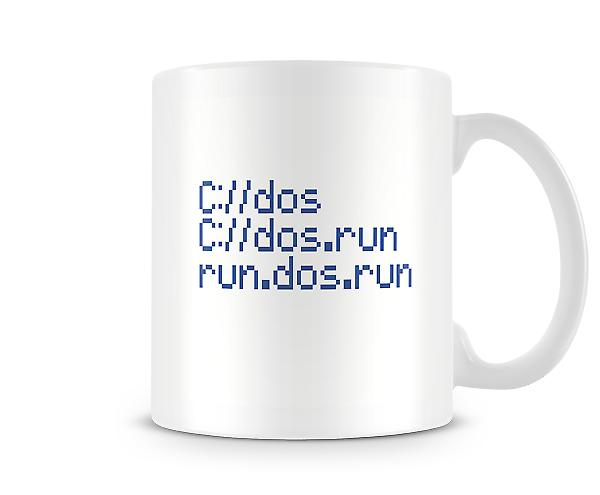 Computer Geek C://dos.run Mug
