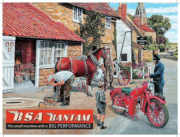 BSA Bantam Blacksmiths large metal sign  (og 4030)