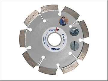 Marcrist MR750 Mortar Raking Diamond Blade 125mm x 22.2mm x 6mm