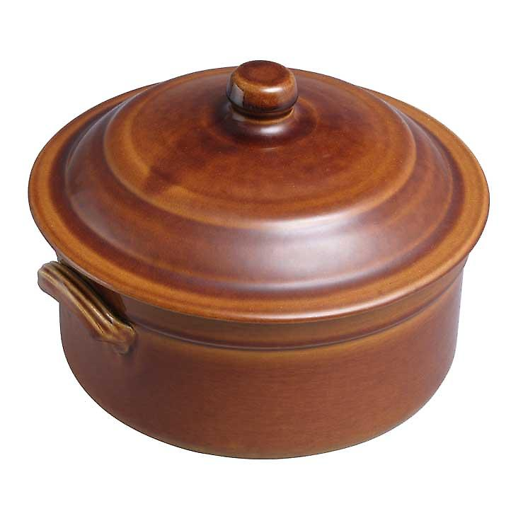 Digoin number 5 0.4 litre / 12 cm round caserole dish and lid