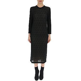 Fendi Black Viscose Dress