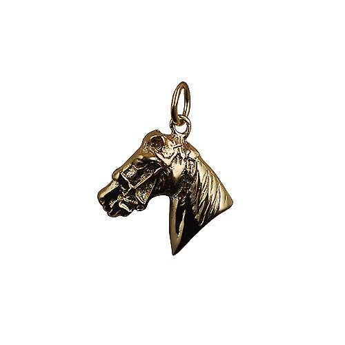 9ct Gold 16x18mm Horse's Head Pendant or Charm