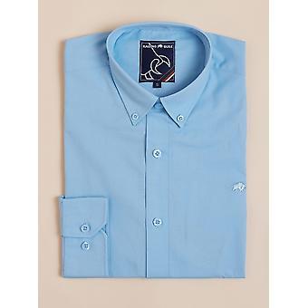 Long Sleeve Signature Poplin Shirt - Sky Blue