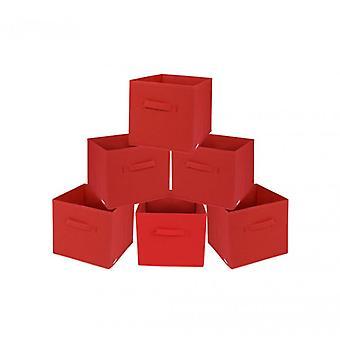 Rebecca meubles Set 6 PCs boîtes pliage conteneurs rouge TNT Order Home Office