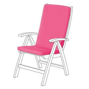 Gardenista® cojín de asiento HIGHBACK resistente al agua rosa para silla de jardín, paquete de 2