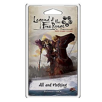 Legend of the Five Rings All and Nothing Dynasty Pack Card Game