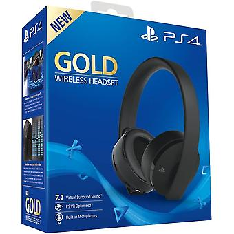 Official PlayStation 4 Gold Wireless Headset 7.1 PS4