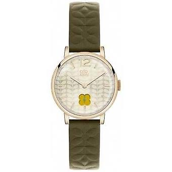 OrlaKielyOliveGreenStrapGoldPVDCaseOK2006 Watch