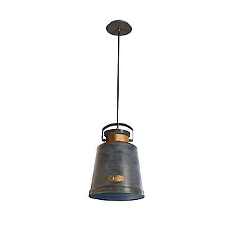 Pendant Vintage 1 X E27 Max.100w  Antique Grey Gol