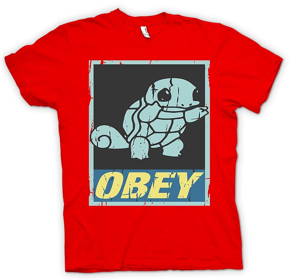 Mens T-shirt - Squirtle Obey - Cool Pokemon Inspired