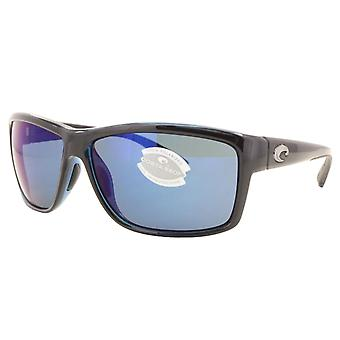 Costa Del Mar Mag Bay Polarized Shiny Black Sunglasses - AA-11-OBMP