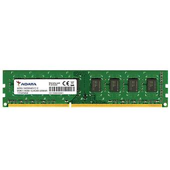 ADATA 4GB, DDR3, 1600 MHz (PC3-12800), CL11, memoria DIMM Single Rank, 512 x 8