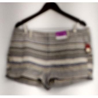Merona Shorts Striped Printed w/ Pockets Beige Womens