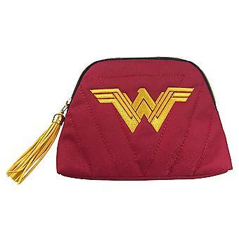 Wonder Woman Justice League Logo Cosmetics Bag