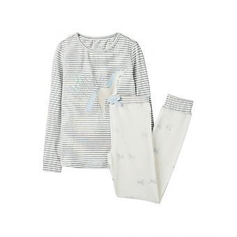 Joules SleepWell Childrens pyjama Set-hopea usko yksisarvinen