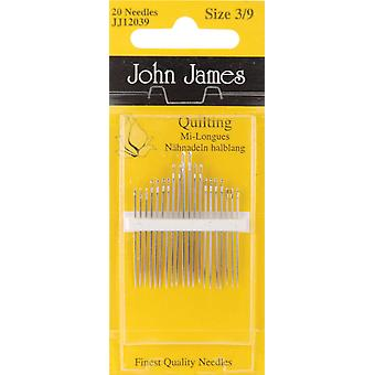 Quilting Betweens Hand Needles Size 3 9 20 Pkg Jj120 39