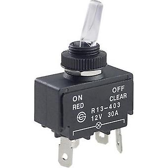 Toggle switch 12 Vdc 30 A 1 x Off/On SCI R13-403A Red/Natural latch 1 pc(s)