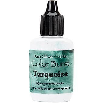 Ken Oliver Color Burst Powder 6gm-Turquoise KNCPW-6217