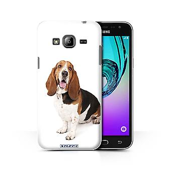 STUFF4 Case/Cover for Samsung Galaxy J3/Basset Hound/Dog Breeds