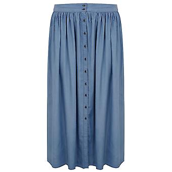 Blue Chambray Maxi Skirt