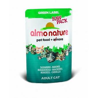 Almo Nature Green Label Raw Pack Makrele (Katzen , Katzenfutter  , Nassfutter)