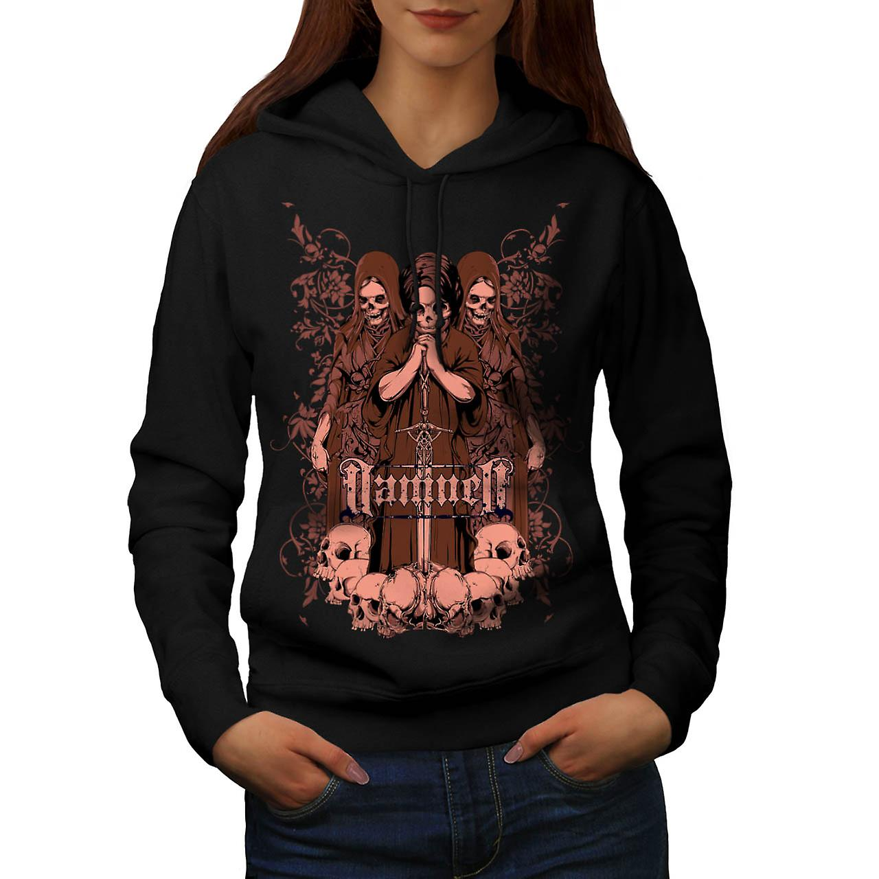 Damned Ghost Hell Horror Child Women Black Hoodie | Wellcoda