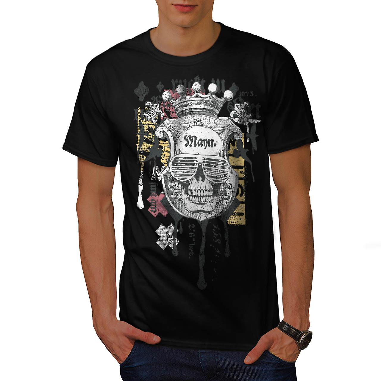 King Fashion Art Skull Men Black T-shirt | Wellcoda