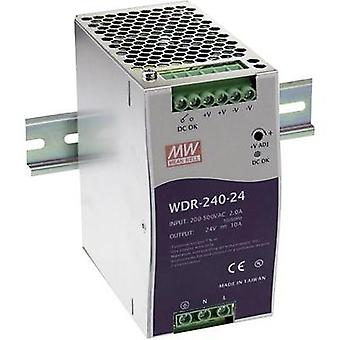 Rail mounted PSU (DIN) Mean Well WDR-240-24 24 Vdc 10 A 240 W 1 x