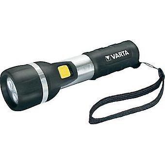 LED Torch Varta LED DAY LIGHT 2AA battery-powered 25 lm 139 g Black/silver