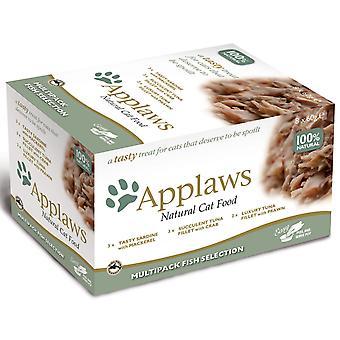 Applaws kat Pot enkeltnumre fisk 8x60g (pakke med 4)