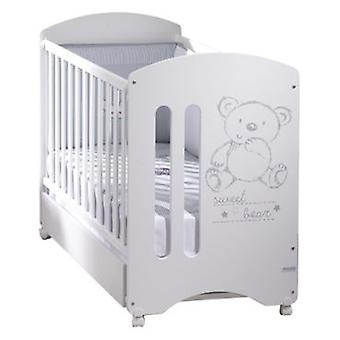 Micuna Cuna De 120 X 60 Sweet Bear Basic Blanco