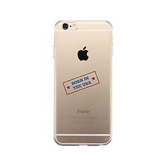 Born In The Usa Clear Phone Case