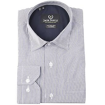 JD Shirts Classic Striped Shirt In Navy