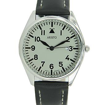 Aristo mens watch wristwatch quartz stainless steel 4 H 155