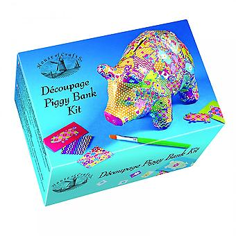 House of Crafts Decoupage Piggy Bank Kit