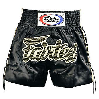 Fairtex Black Laced Sides Muay Thai Shorts
