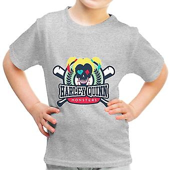 Harley Quinn Monsters Baseball Suicide Squad Kid's T-Shirt