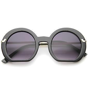 Alta fondo plano Oversize ronda gafas mujer 50mm