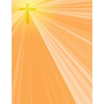 Illuminated Cross Poster Print by Daniel Sicolo  Design Pics