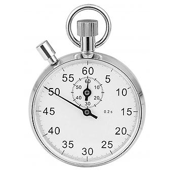 Woodford Chrome Plated Arabic Stopwatch - Silver