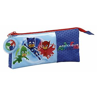Safta Portatodo Triple Pjmasks (Toys , School Zone , Pencil Case)