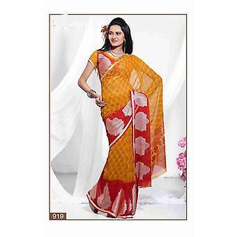 Chaman Georgette Indiase Sari saree stof buikdansen